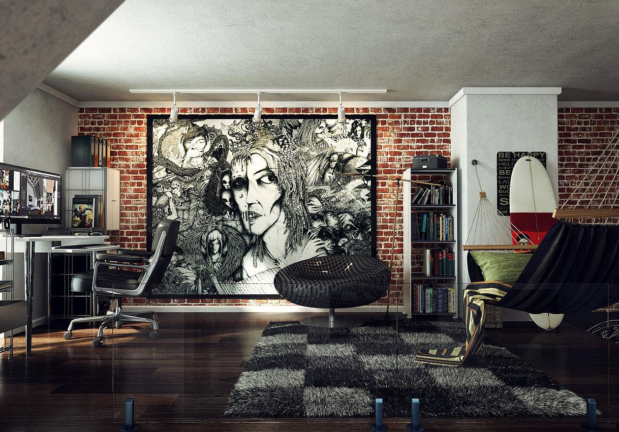 http://www.idesignarch.com/wp-content/uploads/Inspiring-High-Ceiling-Loft-Apartment_5.jpg