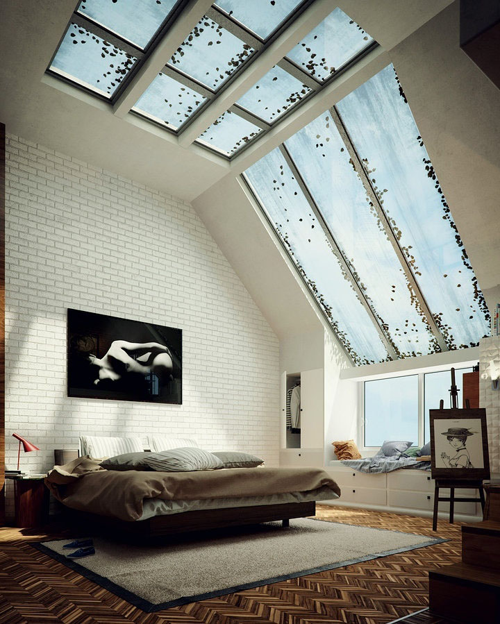 Loft Apartment Living Room Ideas: Inspiring-High-Ceiling-Loft-Apartment_8