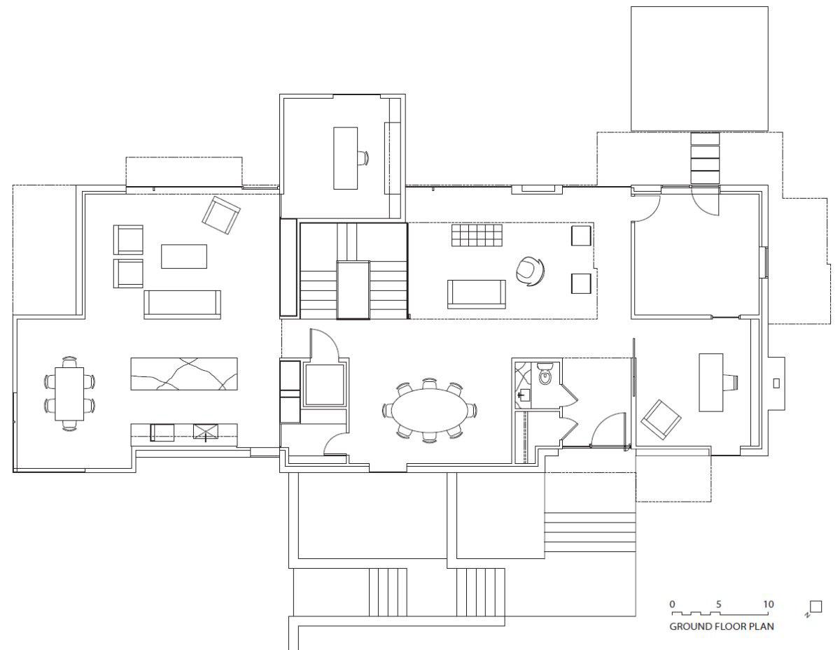 Irregular shaped house explores ambiguous modern for Irregular house plans