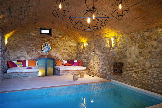 Baroque Style Italian Villa In Umbria With Indoor Vaulted Pool