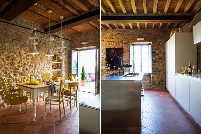 Baroque style italian villa in umbria with indoor vaulted - Interior design perugia ...