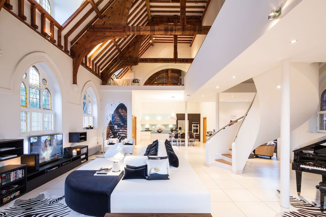 Victorian Church Transformed Into Contemporary Luxury Home