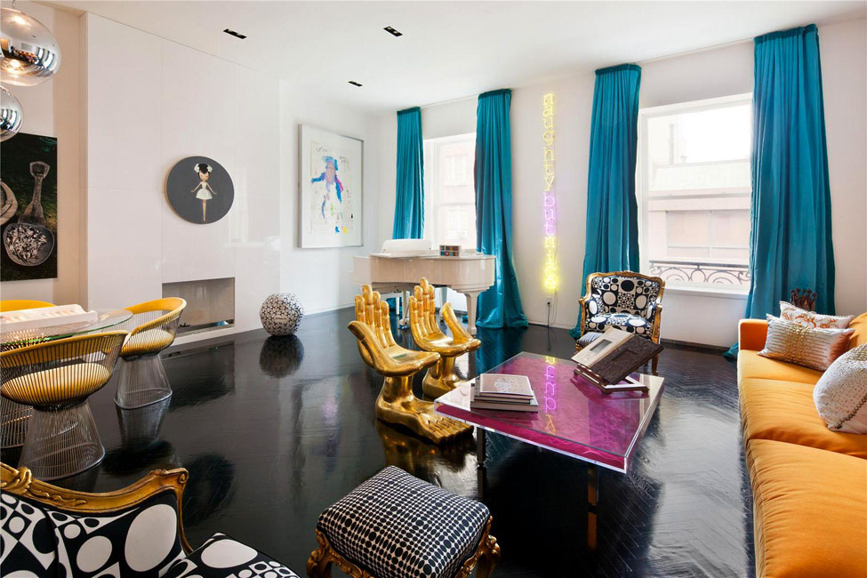 Manhattan triplex interior design by jonathan adler