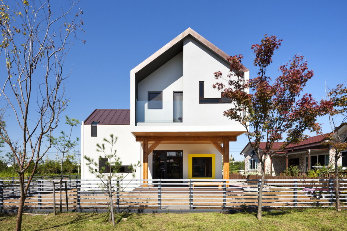 Modern TShaped House In South Korea iDesignArch Interior