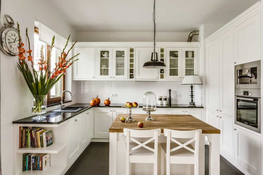 Classic Contemporary White Kitchen Part 66