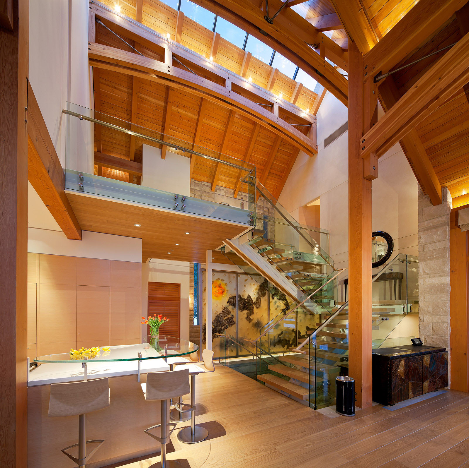 Luxury timber frame mountain retreat in whistler for Contemporary timber homes