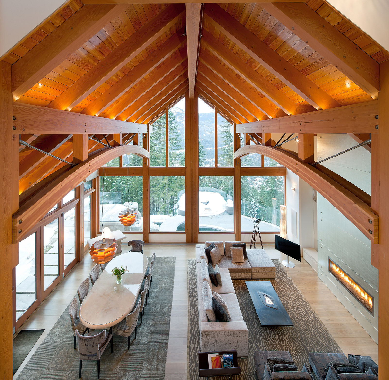Kadenwood timber frame home 8 for Timber frame home interiors