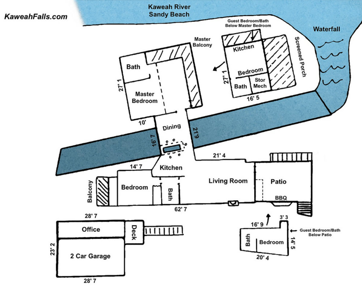 Kaweah Falls House Floor Plan