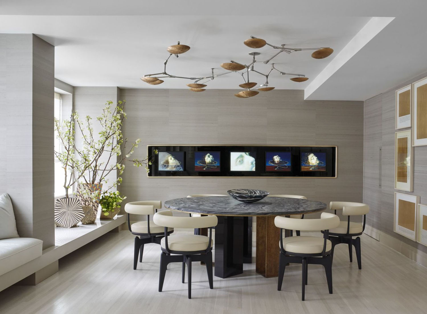 Elegant Modern Dining Room with Neutral Tones