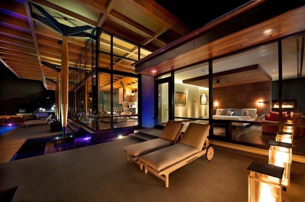 Kelowna contemporary house on okanagan lake idesignarch for David sanders home designs