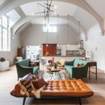 1900s Courthouse With Dramatic Vaulted Ceiling Transformed Into Contemporary Home