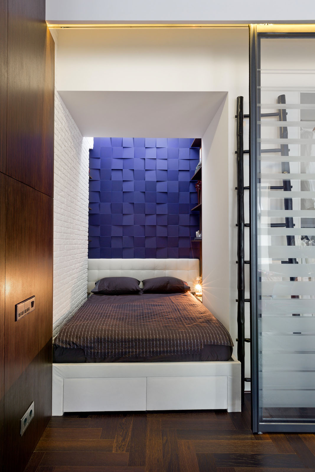 Modern Studio Apartment Sleeping Area