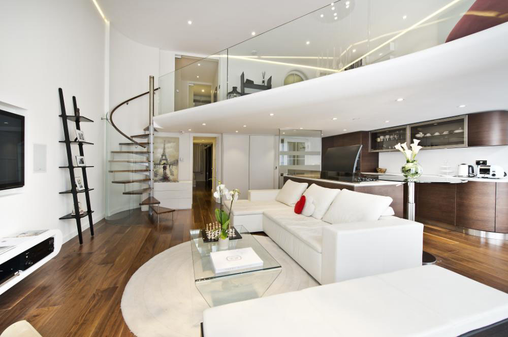 Knightsbridge Apartment With Mezzanine Study Idesignarch