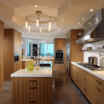 Pale green kitchen design with lavender highlight for Kosher kitchen design