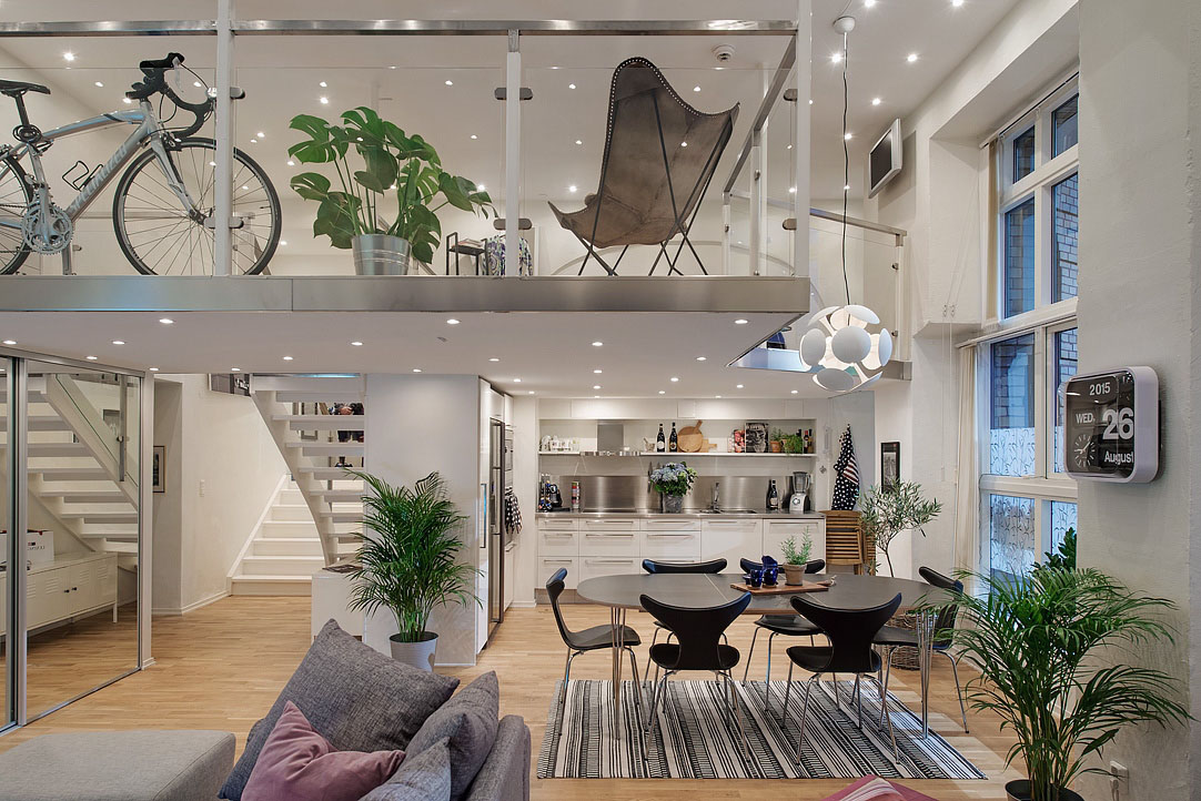 Cool Loft Apartment cool modern loft apartment in gothenburg | idesignarch | interior