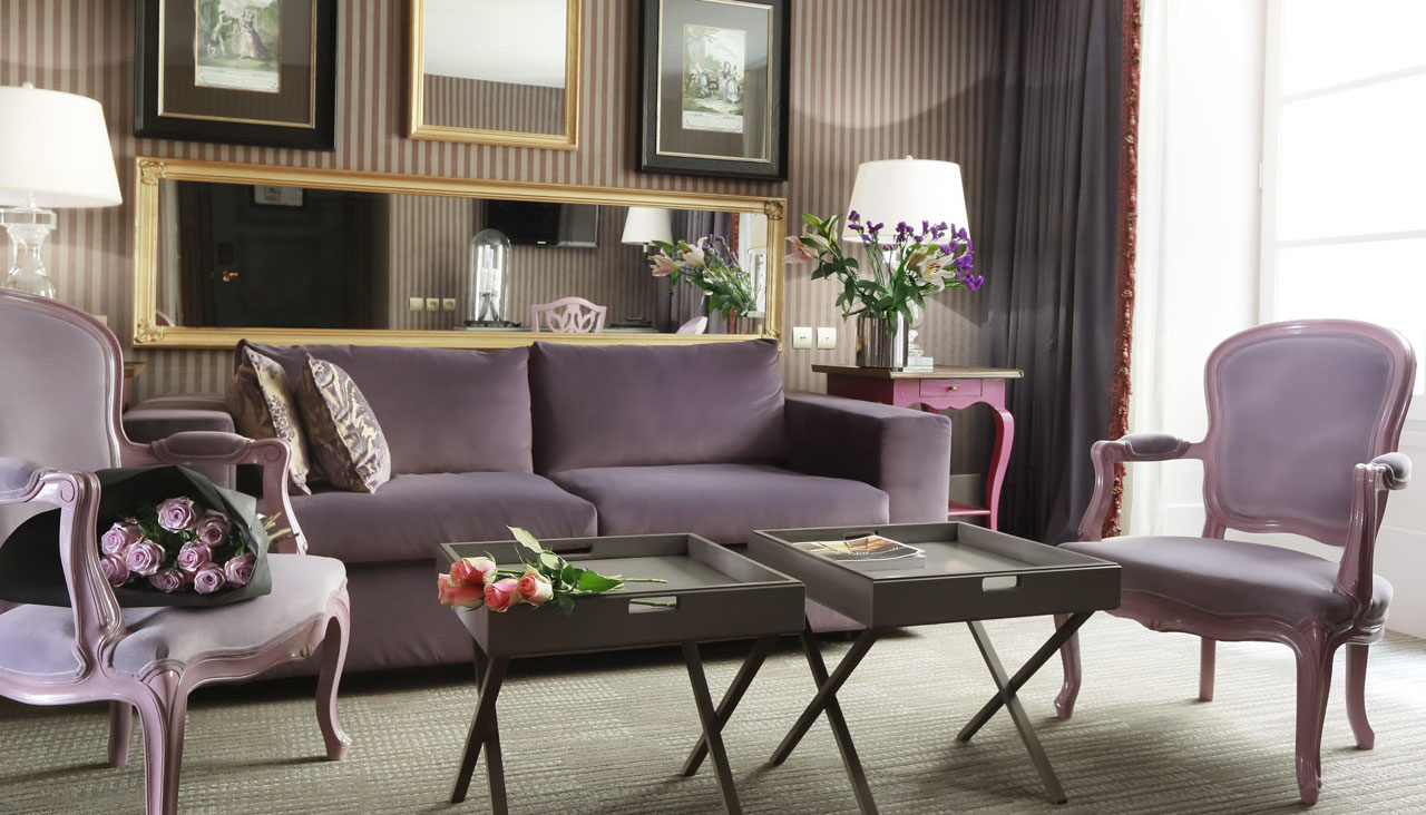 Purple Theme Living Room