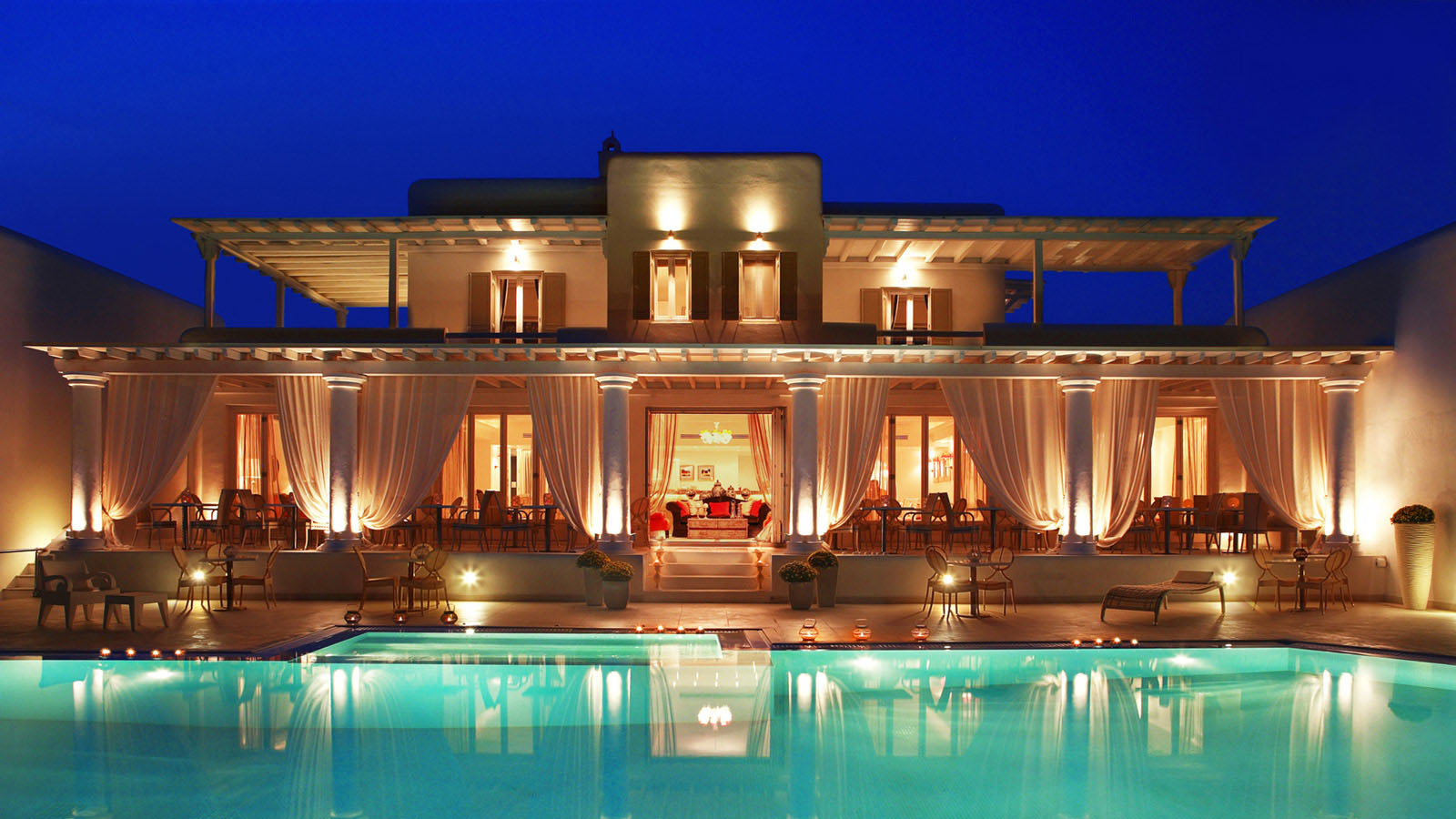 La residence mykonos a chic boutique resort with colonial for Boutique luxury