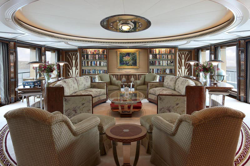 Superyacht Lady Christine Interiors