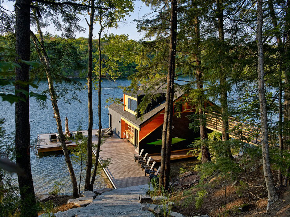 Lakeside Boathouse Muskoka