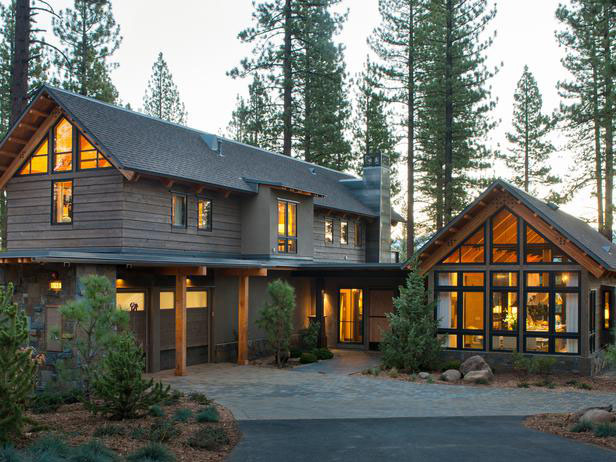 Rustic mountain style lake tahoe dream home idesignarch for Rustic style homes