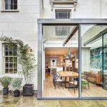 Modern Steel And Glass Rear Extension Of A Victorian Semi-Detached House