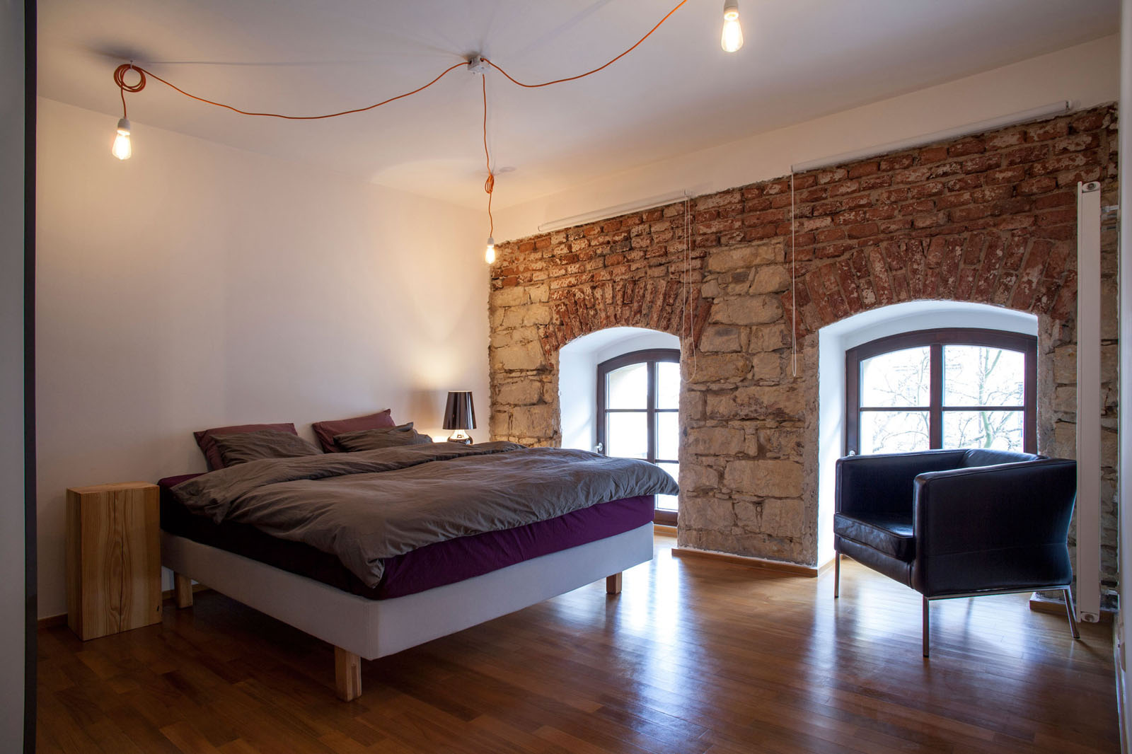 Thin Wood Beams On Ceiling