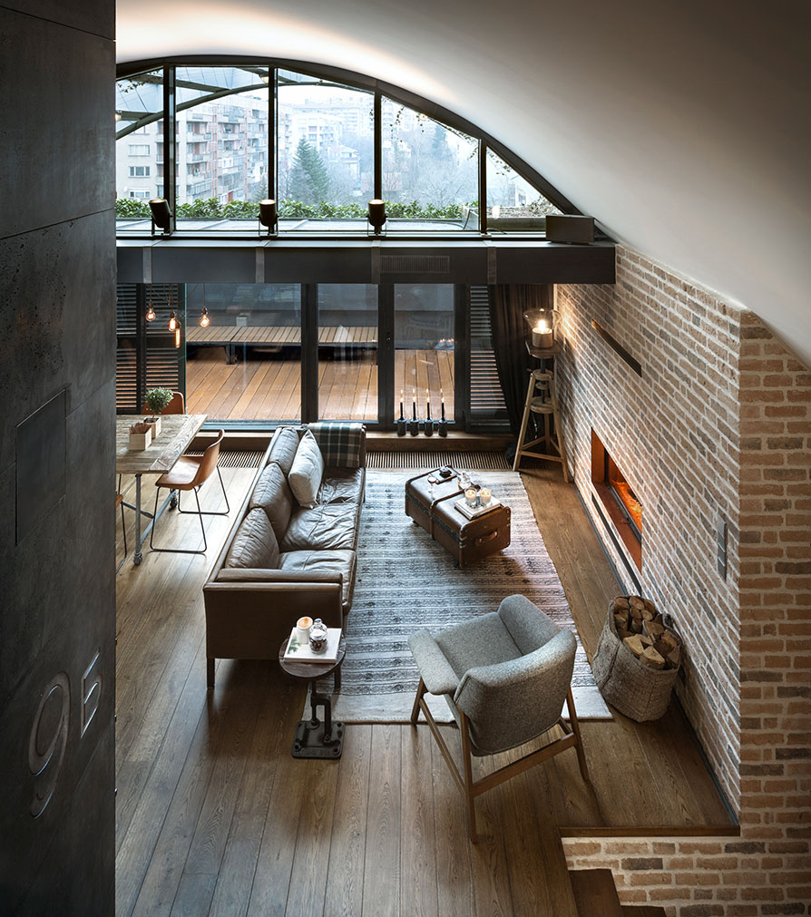 Custom Loft with Brick Wall