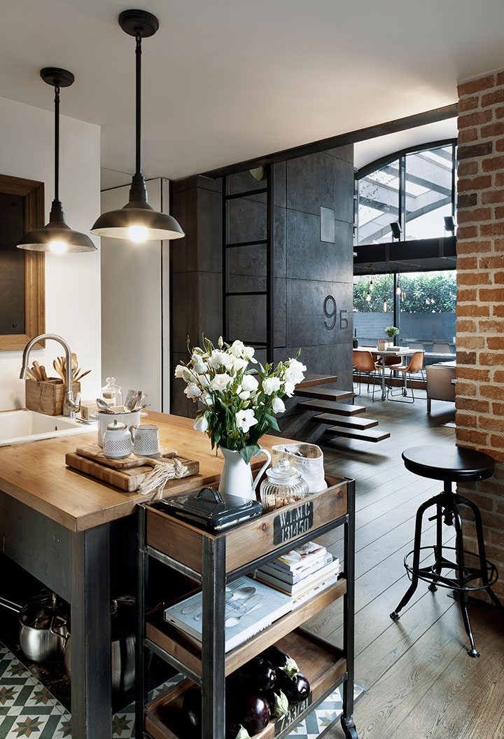 Hip Industrial Style Loft Apartment