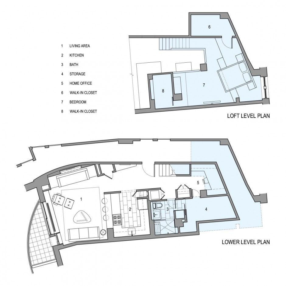 Loft Apartment Design Layout loft style apartment design in new york | idesignarch | interior