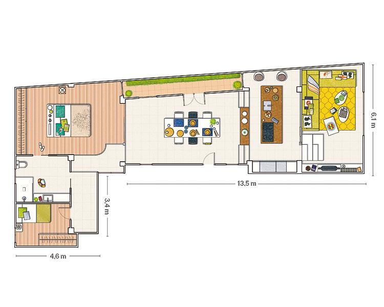 Barcelona Loft Floor Plan