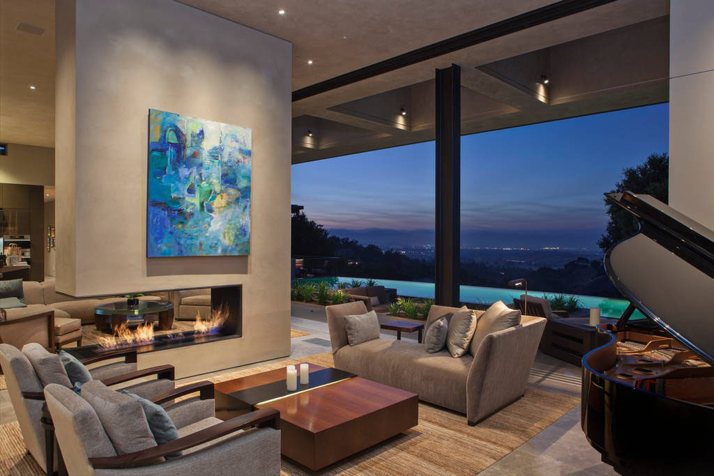 Modern luxury estate with views of the san francisco bay for Modern homes san francisco