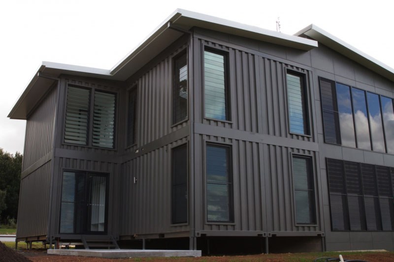 Luxury container home with high end interior finishes for High end home plans