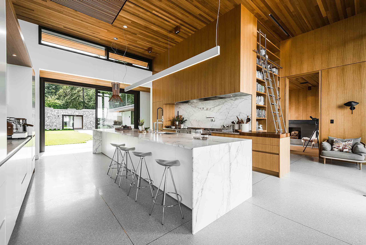 cityscape kitchen mountain residence modern kitchen