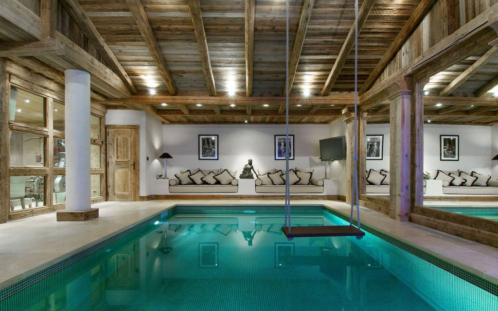 Captivating Elegant Modern Indoor Pool