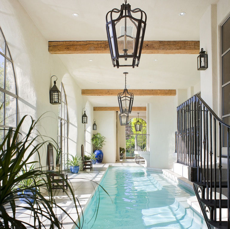 Luxury Home Indoor Swimming Pools: Inspiring Indoor Swimming Pool Design Ideas For Luxury