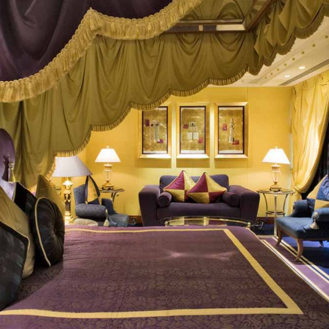 Lavishly appointed luxury suites at burj al arab for Burj al arab presidential suite