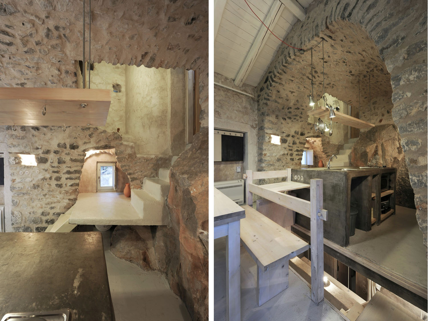 Historical Stone Building In Greece Transformed Into