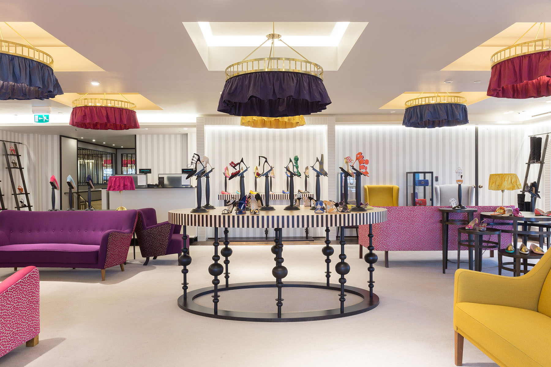 Manolo blahnik london store design inspired by european for Modern furniture stores london