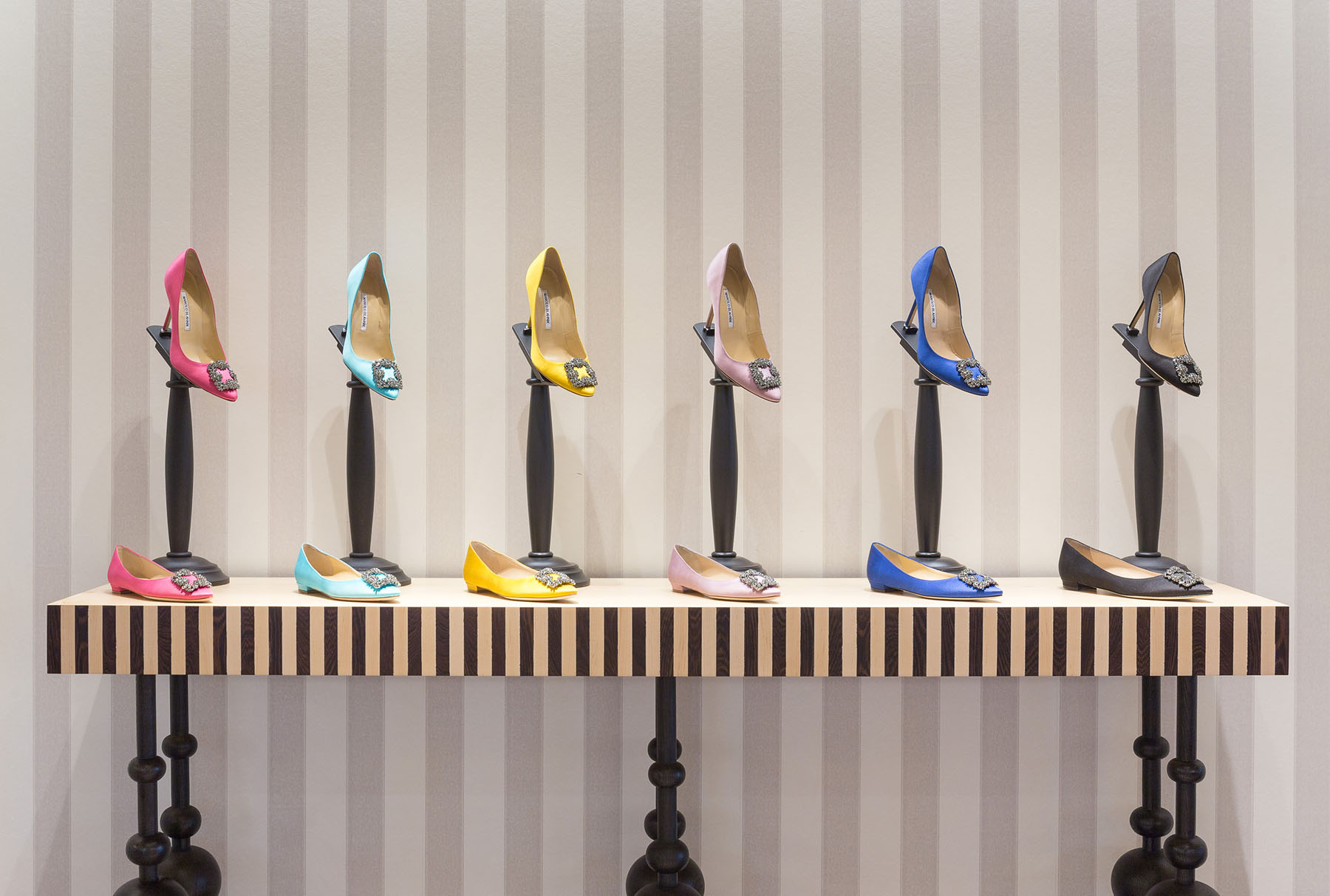 Manolo Blahnik Shoes in Bright Colors