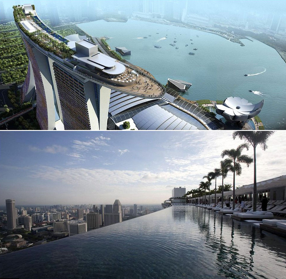 World 39 s most amazing hotel swimming pools idesignarch interior design architecture - Marina bay singapore pool ...