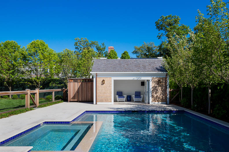 Backyard Swimming Pool and Cabana