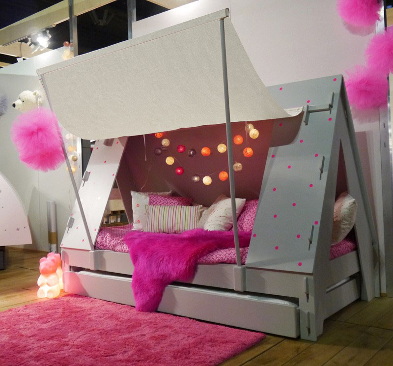 Pink Bedroom for Girls & Caravan And Tent Camping Themed Beds For Kids | iDesignArch ...