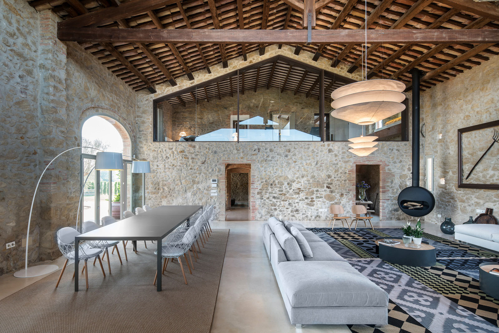 An ancient stone manor transformed into a rustic for Mediterranean stone houses