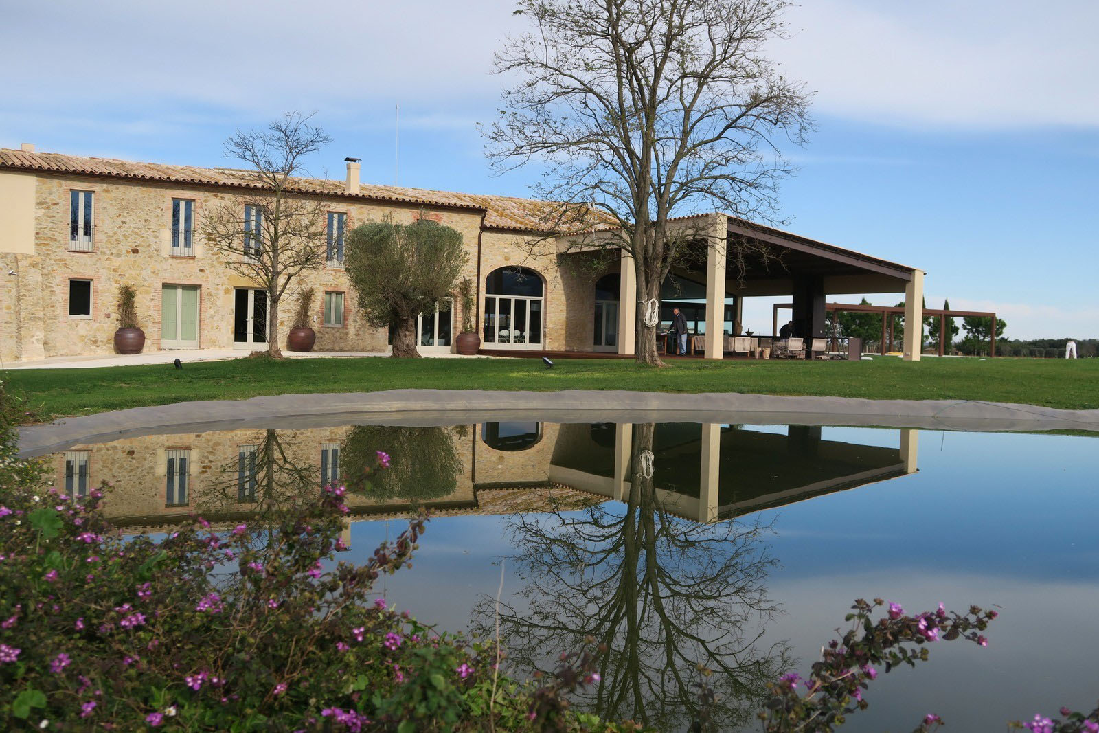 An ancient stone manor transformed into a rustic for Mediterranean country house