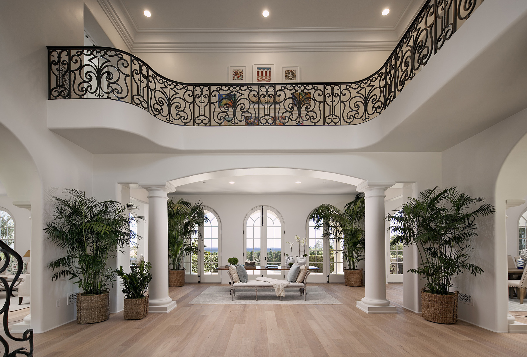 Two-Story Grand Foyer with Ocean View