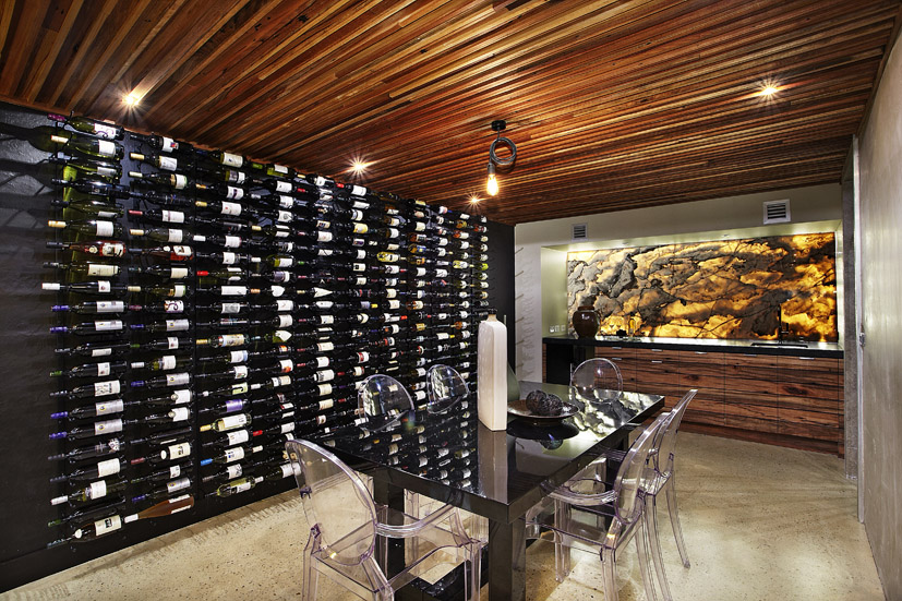 Contemporary Home Wine Cellar