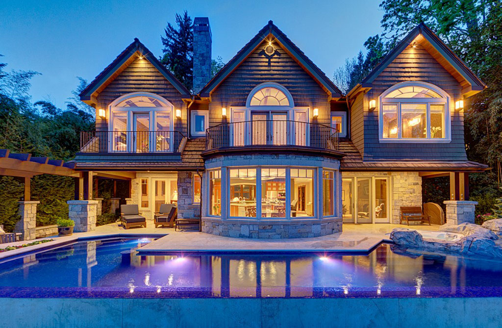 Mercer island luxury waterfront estate idesignarch for Luxury waterfront house plans