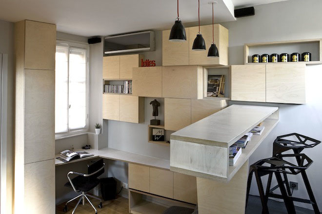 Efficient Studio Apartment Living In Paris
