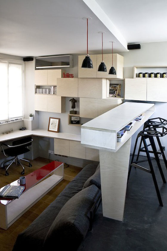 Efficient Studio Apartment Living In Paris Idesignarch