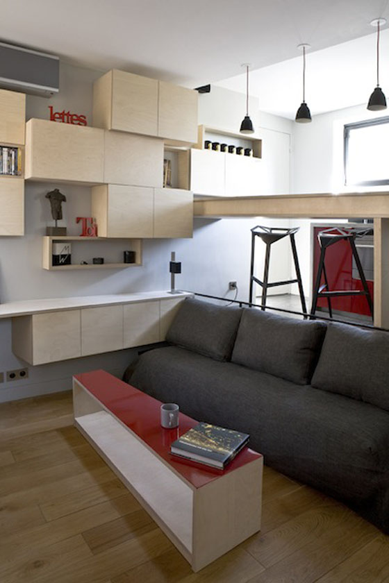 Efficient studio apartment living in paris idesignarch interior